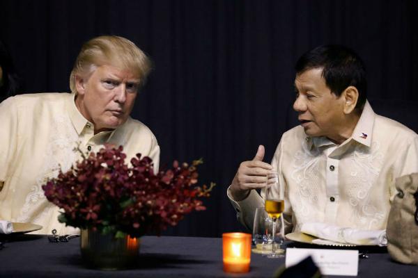 WATCH: Pres. Rodrigo Duterte grants U.S. Pres. Donald Trump's request, sings at ASEAN Summit gala dinner